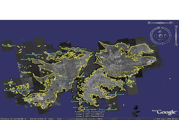 Las Malvinas Figuran Como Territorio Independiente En El Google Earth